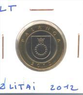 """2 Litai 2012 Lituanie / Lithuania """"Palanga"""" UNC / Non Circulated - Lituanie"""