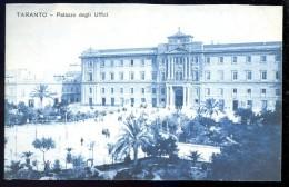 Cpa  Italie Taranto Palazzo Degli Uffici    AO52 - Taranto