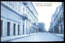 Cpa  Italie Taranto -- Via D´ Aquino Nuowo Ristorante Bologna    AO52 - Taranto