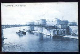 Cpa  Italie Taranto -- Ponte Girevole  AO52 - Taranto