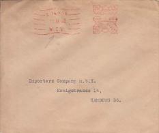 Great Britten Cover, Meter Markings, Stamps,   ,   (Z-7146) - 1902-1951 (Kings)