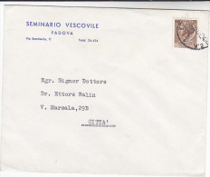 1956? ITALY PADOVA BISHOP´S SEMINAR COMEMRCIAL COVER Stamps Christianity Religion - Christianity