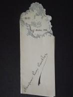 MENU Ancien - Madame Léon CAULIER - Déjeûner Du 11 Octobre 1920 - Excellent ! - Menus