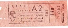 BEL BIGLIETTO TRASPORTI URBANI TARIFFA A2 IN ROMA GITA ANNO 1948