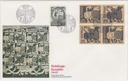 ART - GRODINGE TAPESTRY TAPISSERIE - SWEDEN SUEDE SCHWEDEN  1971 MI 706 - 708 FDC  Textile Dragon Motiv Slania - Textile