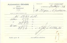 Auzanneau Gendre Grains à La Trimouille (86) De 1934 - Agriculture