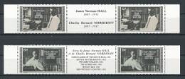 POLYNESIE 1988 N° 297A à 298A ** Neufs = MNH Superbe Cote 11€ Ecrivains Writers Hall Nordhoff - French Polynesia
