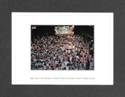 JAPAN - JAPON - NEBUTA FESTIVAL - NIGHT VIEW OF THE MOVEMENT OF AOMORI NEBUTA AND DANCERS HANETO -  COLOR PHOTOGRAPH - Japon