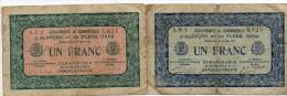 61 - D' Alençon Et De Flers ,orne- Deux Billets D' Un Franc 1923 - Camera Di Commercio