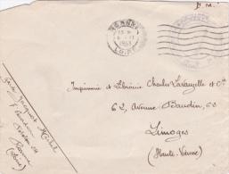 """1943 Lettre FM """"4è REGIMENT DE LA GARDE 7è ESCADRON"""" ROANNE LOIRE - Marcophilie (Lettres)"""