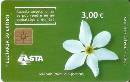 AND-135 TARJETA DE ANDORRA GRANDALLA (FLOWER-FLOR) - Andorra