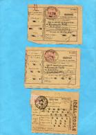 MARCOPHILIE- 4 RECEPISSES Années 1942+1929 Avec Publicité - Marcophilie (Lettres)
