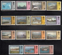 Falkland Islands Dependencies MNH Scott #1L38-#1L52 Set Of 15 Map, Scenics, Ships - Falkland