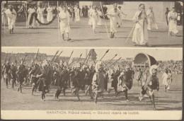 Tchéquie 1912. Timbres D´Autriche. Marathon, La Procession De Vieillards. Le Départ Des Troupes Sur Le Champ De Bataille - Folklore