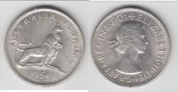 QUALITY **** AUSTRALIE - AUSTRALIA - 1 FLORIN 1954 - ONE FLORIN 1954 - ARGENT - SILVER **** EN ACHAT IMMEDIAT !!! - Monnaie Pré-décimale (1910-1965)