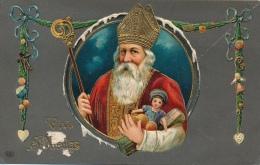 SINT NIKLAAS - KERSTMAN - PERE NOEL !!!! WITTE VLEKJES LINKS ONDER BESCHADIGING - RELIEF - Kerstman