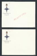 MILITARIA : CARTE DE VISITE 4e COMPAGNIE SAHARIENNE PORTEE DE LEGION ETRANGERE ( LE CAPITAINE LOT DE 2 NEUVE : - Visiting Cards