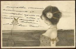 Raphael Kirchner - Expédiée En 1908 De St Jean D´Angely Pour Niort - Verlag Théo Stroefer Série 99 N.XII - Kirchner, Raphael