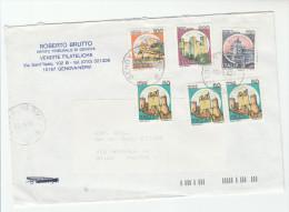1993 Genova Nervi ITALY COVER CASTLE Stamps 380l 120l 100l 3x50l - Castles