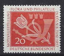 Germany  (BRD) 1957  Flora Und Philatelie  (**) MNH  Mi.254 - [7] République Fédérale