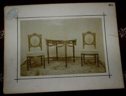 FIN 1800 UNIQUE - GRAND STOCK DE 90 PHOTOS 22 X 17CM - AMEUBLEMENT DE STYLE MALPAS A LIEGE - ANTIQUE FURNITURE - MOBILI
