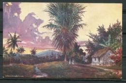 "CPA Signierte Color Raphael Tuck & Sons Künstlerkarte Jamaika Nr.7295 ""Arcadia-Jamaica ,belebt ""1 AK Blanco - Tuck, Raphael"