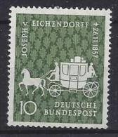 Germany  (BRD) 1957  Joseph Freiherr Von Eichendorff (**) MNH  Mi.280 - [7] République Fédérale
