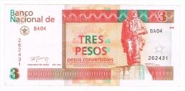 Billet de 3 PESOS CONVERTIBLES CUBA 1994