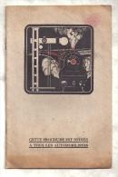 Automobilia / Automobile / RARISSIME brochure SIGNALISATION SAVAR des Etablissements EMILE BILLEN, Bruxelles, 1924