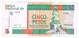 Billet de 5 PESOS CONVERTIBLES CUBA 1994
