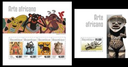 MOZAMBIQUE 2014 - African Art. M/S + S/S Official Issue - Prehistorie