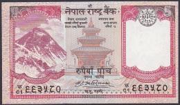 Nepal, 5 Rupees. P.60 (2008) UNC - Nepal