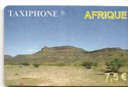 CARTE-PREPAYEE-7.5€-TAXIPHONE-AFRIQUE-PAYSAGE DESERT--31/12/2003- GRATTE-TB E-LUXE - Autres Prépayées