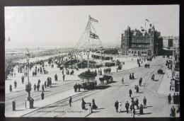 GREIT BRITAIN 1916 12 Ago BLACKPOOL - PRINCESS PARADE Cartolina Animata X Earl Shilton - PARTICOLARE ANNULLO A MACCHINA - Blackpool