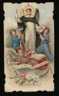 """SAN VINCENZO FERRERI - ANTICO SANTINO - AL RETRO TIMBRO """" SCUOLE CATECHISTICHE S.DOMENICO - MOLFETTA"""" - Images Religieuses"""