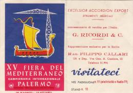 FIERA DEL MEDITERRANEO - PALERMO  /  Biglietto Invito XV Fiera - Biglietti D'ingresso