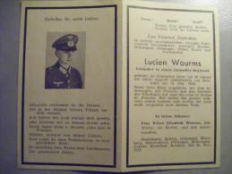 Image Mortuaire Avis De Décés Militaire Allemand Malgrés Nous Tombé à Melitopol Grenadier Zimming Zimmingen - Guerra 1939-45