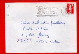 Flamme SCOTEM N° 6177, Descartes, Indre Et Loire - Postmark Collection (Covers)