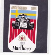 Sticker Marlboro - 1974  Anderstorp - Automovilismo - F1