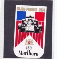 Sticker Marlboro - 1974  Dijon Prenois - Automovilismo - F1