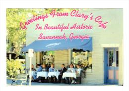 Etats Unis: Greetings From Clary's Cafe, In Beautiful Historic, Savannah, Georgia (14-3596) - Savannah