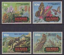 ZAMBIA 1972 ANNO DELLA NATURA YVERT 85-88 MNH XF - Zambia (1965-...)