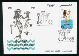 EGYPT / 1998 / DAY OF THE NILE FLOOD / MERMAID / BIRD / EGYPTOLOGY / FDC - Égypte
