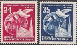 Germany DDR,  Scott 2015 # 118-119,  Issued 1952,  Set of 2,  LH,  CAT $ 3.00,  Birds