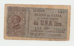 Italy 1 Lira 1914 AVF Banknote Pick 36a  36 A - [ 1] …-1946 : Koninkrijk