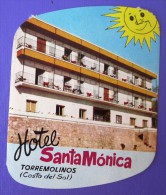 HOTEL RESIDENCIA MONICA TORREMOLINOS COSTA SOL CANARY ISLAS SPAIN LUGGAGE LABEL ETIQUETTE AUFKLEBER DECAL STICKER Madrid - Hotel Labels