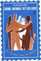 Vignette Journée Nationale Des Vieillards (France) 1965. - Autres