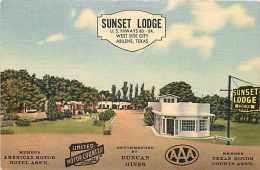 228215-Texas, Abilene, Sunset Lodge, Highways 80-84, Linen Postcard, MWM No 9796 - Abilene