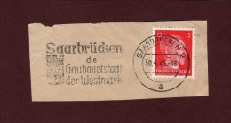 712 De 1941/43 - SAARBRÜCKEN - SARREBRUCH - Cachet Du  30-4-1943 - Empire 1933/1945. 3 ème Reich - Guerre De 1939-45