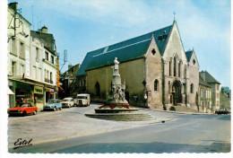 Nogent Le Rotrou - Le Perche Gouet-Eglise Notre Dame Et Monument Paul Deschanel (voitures Années 70) - Nogent Le Rotrou